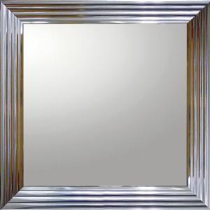 デコラティブ 大型ミラー シャープ「正方形(メタル シルバー)」|touo