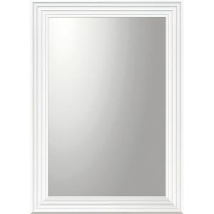 デコラティブ 大型ミラー シャープ「長方形(ホワイト)」|touo