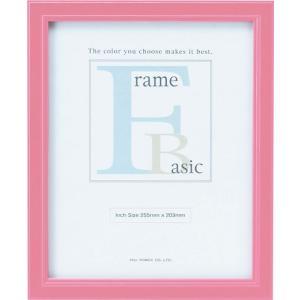 額縁 フォトフレーム 写真立て ベーシック 「インチサイズ(ピンク)」|touo