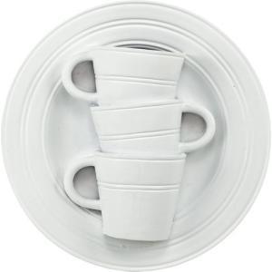 花瓶 壁掛け カップ&ソーサー アート ベース「モダン スリーカップ(ホワイト)」|touo