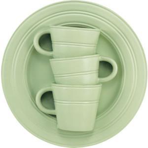 花瓶 壁掛け カップ&ソーサー アート ベース「モダン スリーカップ(アンティーク グリーン)」|touo