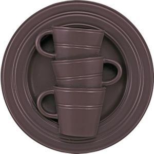 花瓶 壁掛け カップ&ソーサー アート ベース「モダン スリーカップ(ブラウン)」|touo