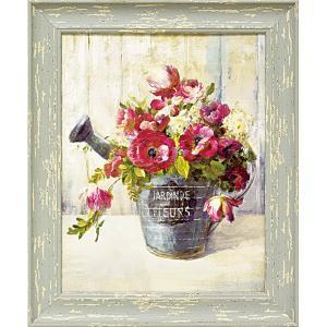 絵画 インテリア アートポスター 壁掛け (額縁 アートフレーム付き)付 ダンフイ ナイ「ガーデン ブルーム2」|touo