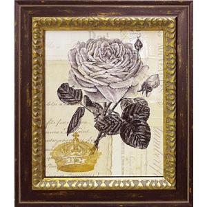 絵画 インテリア アートポスター 壁掛け (額縁 アートフレーム付き) デボン ロス作 「クラウンローズ」|touo