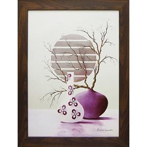 絵画 インテリア アートポスター 壁掛け (額縁 アートフレーム付き) デビット セダリア作 「パープル インスピレーション1」|touo