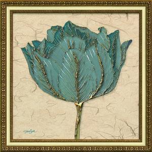 絵画 インテリア アートポスター ダイアン スティムソン「ゴールド ターコイズ チューリップ」|touo