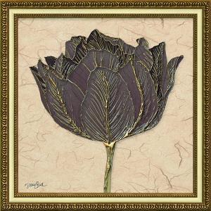 絵画 インテリア アートポスター ダイアン スティムソン「ゴールド ブラック チューリップ」|touo