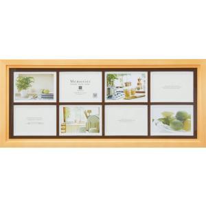 額縁 フォトフレーム 写真立て メモリーズ 木製フレームフォト「8ウィンドー(ナチュラル)」|touo