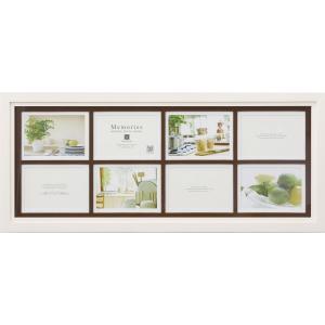 額縁 フォトフレーム 写真立て メモリーズ 木製フレームフォト「8ウィンドー(ホワイト)」|touo