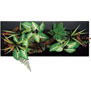 造花 インテリア ツーウェイ グリーン アート「ブラック・グリーンアレンジC(Lサイズ)」|touo