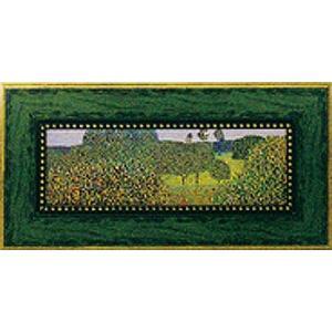 絵画 インテリア アートポスター 壁掛け (額縁 アートフレーム付き) ビッグアート クリムト作 「フィールド オブ ポピー」|touo