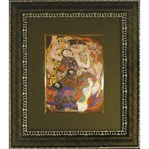 絵画 インテリア アートポスター 壁掛け (額縁 アートフレーム付き) ビッグアート クリムト作 「ザ バージン」|touo