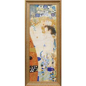 絵画 インテリア アートポスター 壁掛け (額縁 アートフレーム付き) ビッグアート クリムト作 「人生の三段階」|touo
