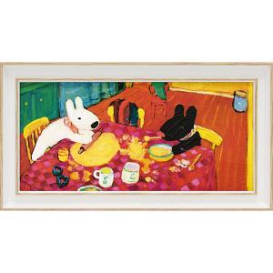 絵画 インテリア アートポスター リサとガスパール アートフレーム「おかしづくり(ワイドSサイズ)」|touo
