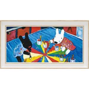 絵画 インテリア アートポスター リサとガスパール アートフレーム「ペインティング(ワイドSサイズ)」|touo