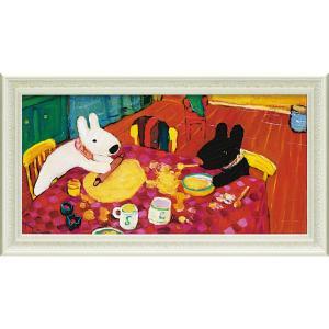 絵画 インテリア アートポスター リサとガスパール ミュージアムフレーム「おかしづくり(Lワイド)」|touo