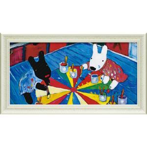 絵画 インテリア アートポスター リサとガスパール ミュージアムフレーム「ペインティング(Lワイド)」|touo