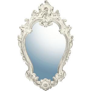 インテリア 鏡 壁掛け グレース アート ミラー「アリストクラシー(アンティークホワイト)」|touo