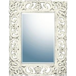 インテリア 鏡 壁掛け グレース アート ミラー「プレミア(アンティークホワイト)」|touo