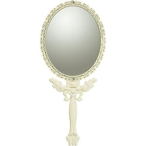 インテリア 鏡 ガーリーロザ ハンドミラー「Mサイズ(アイボリー)」|touo