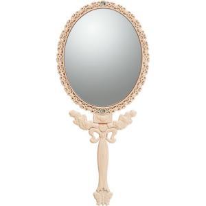 インテリア 鏡 ガーリーロザ ハンドミラー「Mサイズ(ライトピンク)」|touo