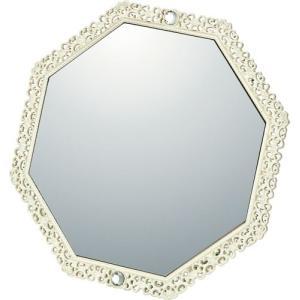 インテリア 鏡 ガーリーロザ 8 アングル スタンド ミラー「アイボリー」|touo