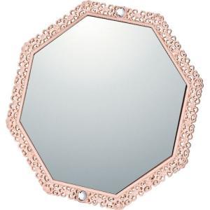 インテリア 鏡 ガーリーロザ 8 アングル スタンド ミラー「ライトピンク」|touo