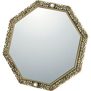 インテリア 鏡 ガーリーロザ 8 アングル スタンド ミラー「アンティークゴールド」|touo