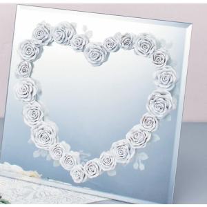 インテリア 鏡 エターナリーローズミラー ホワイト|touo