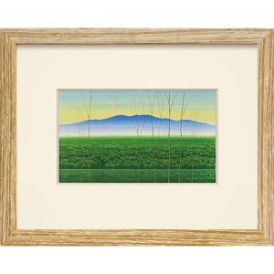 絵画 インテリア アートポスター 照沼 光治「緑鏡」|touo