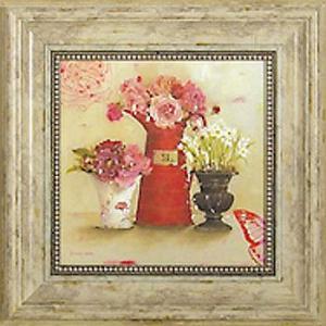 絵画 インテリア アートポスター 壁掛け (額縁 アートフレーム付き) キャサリン ホワイト作 「お気に入りの花屋」|touo