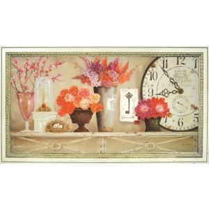 絵画 インテリア アートポスター 壁掛け (額縁 アートフレーム付き) キャサリン ホワイト作 「桜色」|touo