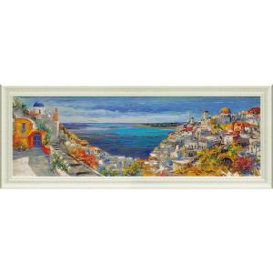 絵画 インテリア アートポスター ルイージ フローリオ「サントリーニ」|touo