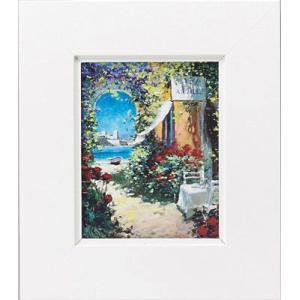 絵画 インテリア アートポスター 壁掛け (額縁 アートフレーム付き) マルコ マヴロヴィッチ作 「潮風そよぐ風」|touo