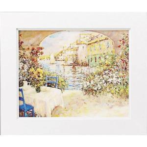 絵画 インテリア アートポスター 壁掛け (額縁 アートフレーム付き) マルコ マヴロヴィッチ作 「幸せな朝」|touo