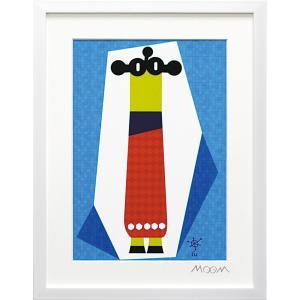 絵画 インテリア アートポスター 壁掛け (額縁 アートフレーム付き) MoMo carnival アートフレーム「ルー(Sサイズ)」|touo