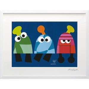 絵画 インテリア アートポスター 壁掛け (額縁 アートフレーム付き) MoMo carnival アートフレーム「サンミン(Mサイズ)」|touo