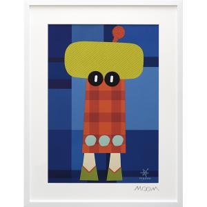絵画 インテリア アートポスター 壁掛け (額縁 アートフレーム付き) MoMo carnival アートフレーム「ミュワ(Lサイズ)」|touo