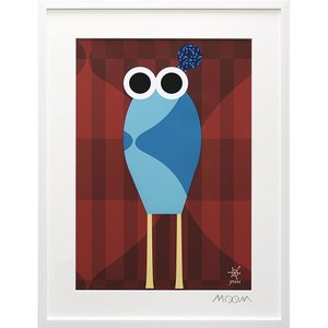 絵画 インテリア アートポスター 壁掛け (額縁 アートフレーム付き) MoMo carnival アートフレーム「プー(Lサイズ)」|touo