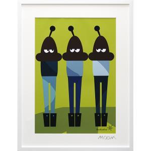 絵画 インテリア アートポスター 壁掛け (額縁 アートフレーム付き) MoMo carnival アートフレーム「バオバオバオ(Lサイズ)」|touo
