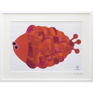 絵画 インテリア アートポスター 壁掛け (額縁 アートフレーム付き) MoMo carnival アートフレーム「トーラン(Lサイズ)」|touo
