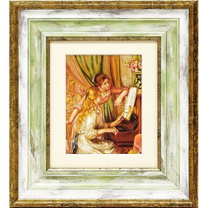 額縁付き絵画 ルノワール「ピアノを弾く少女」 touo