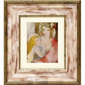 額縁付き絵画 ローランサン「母と子」 touo