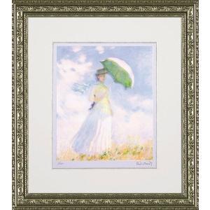 絵画 インテリア アートポスター 壁掛け (額縁 アートフレーム付き) ビッグアート クロード・モネ作 「散歩」|touo
