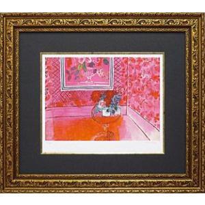 絵画 インテリア アートポスター 壁掛け (額縁 アートフレーム付き) ビッグアート ラウル・デュフィ作 「バラ色の人生」|touo