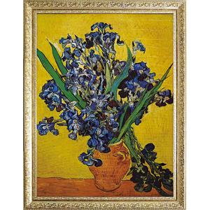 絵画 インテリア アートポスター ゴッホ「花瓶のアイリス」|touo