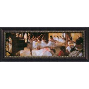 絵画 インテリア アートポスター 壁掛け (額縁 アートフレーム付き) ビッグアート エドガー・ドガ作 「エコール デ ダンス」|touo