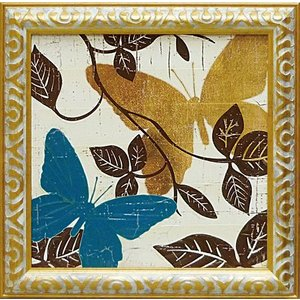 絵画 インテリア アートポスター 壁掛け (額縁 アートフレーム付き) モルガン ヤマダ作 「ターコイズタイル3」|touo