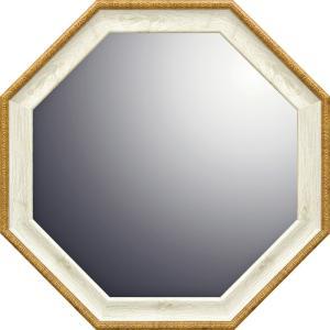 ナチュラル 八角ミラー「ホワイト(Mサイズ)」|touo