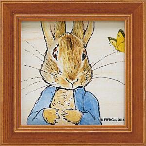 絵画 インテリア アートポスター 壁掛け (額縁 アートフレーム付き) ピーター ラビット ミニ アート「ピーターとちょうちょ」|touo